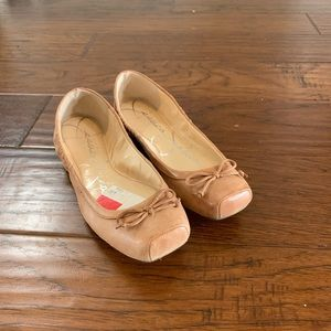 Square toed ballet flats